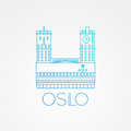 Town hall The symbol of Oslo, Norway. Royalty Free Stock Photo