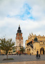Town hall tower in Krakow, Poland Royalty Free Stock Images