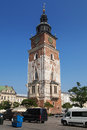 Town Hall Tower in Krakow Royalty Free Stock Photo