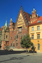 Town hall in wroclaw the historic halll poland Royalty Free Stock Photos