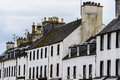 Town houses row scotland uk traditional of small Stock Images