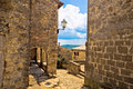 Town of hum main square view and stone street istria croatia Royalty Free Stock Photo