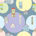 Town illustration seamless pattern concept background you can be used for wallpapers fills web Stock Photography