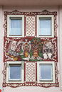 Windows on a house in Imst,Tyrol Royalty Free Stock Photo