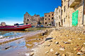 Town of Komiiza beach and old architecture Royalty Free Stock Photo