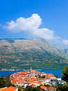 Town Korcula in Croatia Royalty Free Stock Image