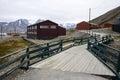 In the town of longyearbyen spitsbergen svalbard wooden houses Stock Photo