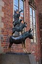 Town musicians of bremen statue in germany Royalty Free Stock Photo