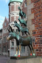 Town musicians of bremen statue the in northwestern germany on april this statue was created by the artist gerhard Stock Image