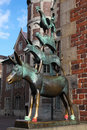 Town musicians of bremen statue the in northwestern germany on april this statue was created by the artist gerhard Royalty Free Stock Images