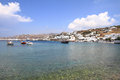 The town of mykonos island in greece Stock Image