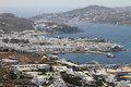 The town of mykonos island in greece Royalty Free Stock Images