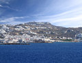 The town of mykonos island in greece Royalty Free Stock Photography
