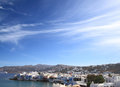 The town of mykonos island in greece Royalty Free Stock Photo