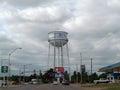 El Reno, Oklahoma Water Tower near downtown Royalty Free Stock Photo