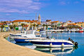 Town of pakostane in dalmatia waterfront croatia Stock Photography