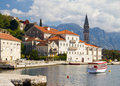 Town of Perast, Montenegro on Sunny October Day Royalty Free Stock Photography