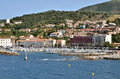Town and port of Banyuls-sur-Mer in France Stock Photo
