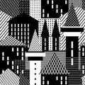 Town. Seamless pattern. Royalty Free Stock Image