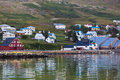 The town of Siglufjordur, the Northern part of Iceland Stock Images
