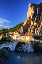 Town of Sisteron in Provence France Royalty Free Stock Photos