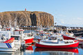 The town of stykkisholmur snaefellsnes peninsula iceland western part Royalty Free Stock Photos