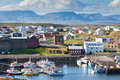 The town of stykkisholmur the western part of iceland snaefellsnes peninsula Stock Images
