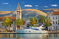 Town of trogir yachting waterfront unesco world heritage site in dalmatia croatia Stock Photo