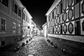 Town of Varazdin steet evening view Royalty Free Stock Photo