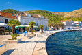 Town of Vis seafront view Royalty Free Stock Photo
