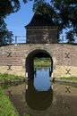 Town and water gate boerenboom enkhuizen netherlands north holland province region west friesland fortified city landscape with Royalty Free Stock Photography