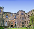Towneley hall in burnley lancashire situated half a mile south east of it lies within a acre park and for over six centuries it Royalty Free Stock Images