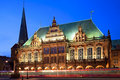 Townhall in Bremen, Deutschland. Stockfotos