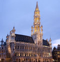 Townhall in Grand Place, Brussels Stock Photos