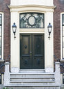 Townhouse Entrance Door Royalty Free Stock Photo