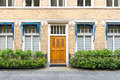 Townhouse entrance front door dutch in the hague netherlands Royalty Free Stock Photos