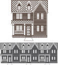 TownHouse row of townhomes vector Royalty Free Stock Photo