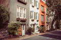 Townhouses In Georgetown, Washington DC Royalty Free Stock Photo