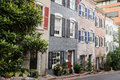 Townhouses in georgetown washington dc historic Stock Photos