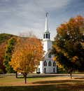 Townshend Church in Fall Stock Photography