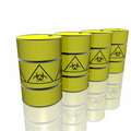 Toxic barrel with biohazard symbol Stock Images