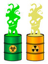 Toxic barrels Royalty Free Stock Photo
