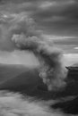 The toxic fumes biow out from volcanic crater in indonesia Royalty Free Stock Images