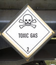 Toxic gas symbol photo of Royalty Free Stock Images