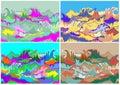 Toxic Hallucination Colors Ocean Waves Set