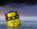 Photo : Toxic Nuclear Waste Radioactive Material Illustration   barrel