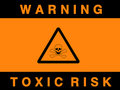 Toxic risk sign Stock Image