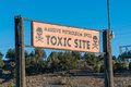 Toxic Site Sign Royalty Free Stock Photo
