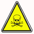 Toxicity sign isolated Royalty Free Stock Photo