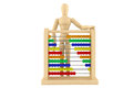 Toy abacus with wooden dummy Stock Images